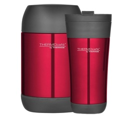 Lot Tumbler Mug 42.5cl + Lunch box 50cl Rouge Glacé - Thermocafé by Thermos