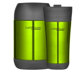 Lot Tumbler Mug 42.5cl + Lunch box 50cl Vert Glacé - Thermocafé by Thermos