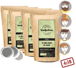 Les Petits Torréfacteurs Selection Pack - 4 Exclusive Blends - 72 coffee pods for Senseo