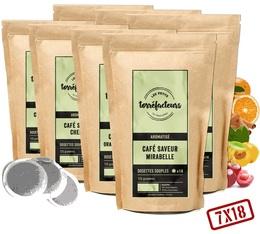 Pack Découverte Gourmand & Fruité (Exclusivité MaxiCoffee) - 126 dosettes souples (7 parfums) - Les Petits Torréfacteurs