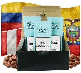 Coffret Evasion Amérique du Sud - 3 cafés grains x 250g - Cafés Lugat