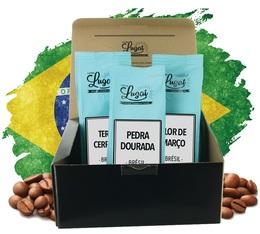 Coffret Evasion Café Brésil - 3 cafés grains x 250g - Cafés Lugat