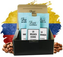Coffret Evasion Café Colombie - 3 cafés en grains 250g - Cafés Lugat