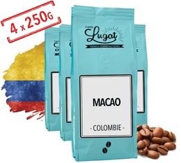 Café en grains : Colombie - Macao - 1Kg - Cafés Lugat