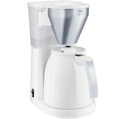 Cafetière filtre Melitta Easy Top Therm 1010-07 blanc/acier brossé + offre cadeaux