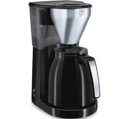 Cafetière filtre Melitta Easy Top Therm 1010-08 noir/acier brossé + offre cadeaux