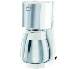 Cafetière filtre Melitta Enjoy Top Therm 1017-07 blanc et acier brossé + offre cadeaux