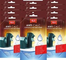 12 Détartrants Melitta Anti calc unidose liquide pour machines à capsules et dosettes - 100ml