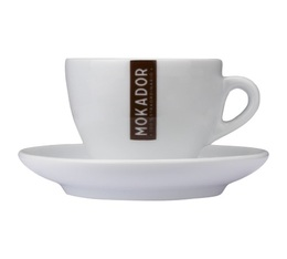 Mokador Castellari Set of 6 Cappuccino Cups and Saucers - 22cl