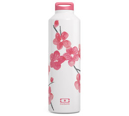 MonBento MB Steel Graphic Blossom Insulated Stainless Steel Water Bottle - 50cl