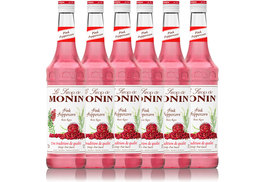 Lot de 6 Sirops Monin - Baies Roses - 70 cl