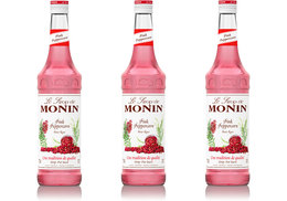 Lot de 3 Sirops Monin - Baies Roses - 70 cl