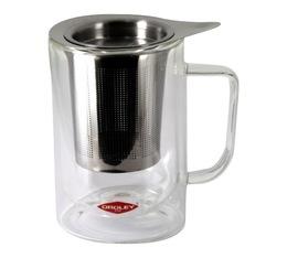 Théière Arezzo individuel verre double paroi et filtre en acier inoxydable - 30 cl - Oroley
