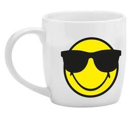 Mini Mug Smiley blanc cool en porcelaine 7.5cl Zak!Design