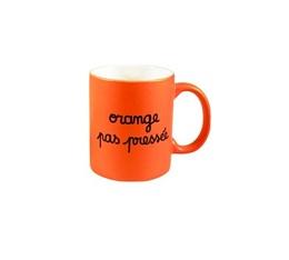 Mug en porcelaine orange pas press e orange fluo 35 cl - Machine a orange pressee ...