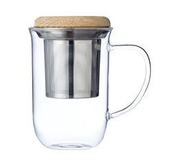 Mug avec infuseur VIVA Scandinavia avec couvercle en bois - 35 cl