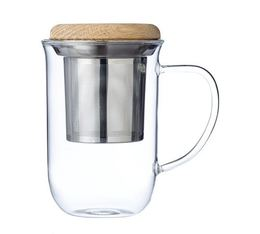 VIVA Scandinavia mug with infuser and wooden lid - 350ml