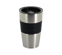 Mug isotherme inox/noir - 450 ml - Café BoXX