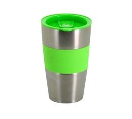 Mug isotherme inox/vert - 450 ml - Café BoXX