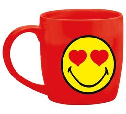 Mug Smiley rouge amoureux en porcelaine 7.5cl Zak!Design