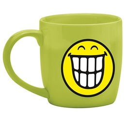Mug Smiley vert souriant en porcelaine 35cl Zak!Design