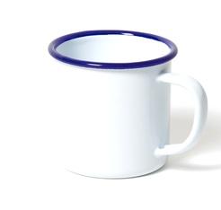 Mug blanc avec bordure bleue 35 cl - Falcon Enamelware