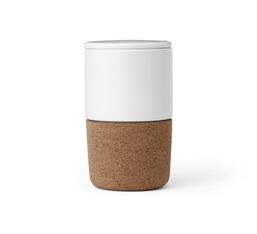 Mug CORTICA 40 cl avec couvercle en porcelaine et liège