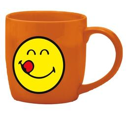 Mug Smiley corail gourmand en porcelaine 35cl - Zak!Design