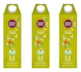 Lot de 3 Smoothies Green 1 L - One & Only