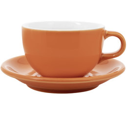 Tasse et sous tasse Latte Bowl Origami 19 cl - Orange