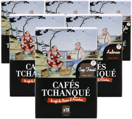 Selection pack -x 60 Cafés Tchanqué capsules for Nespresso