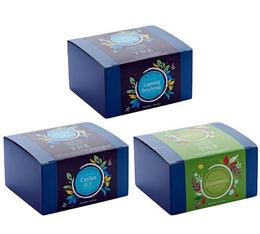3 Boîtes de 20 sachets - Lapsang Souchong + Ceylan OP + Connivence  - Comptoir Français du thé