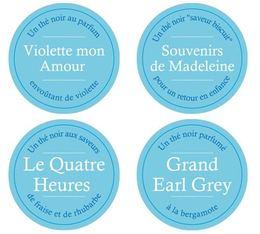 Lot de 4 Thés en vrac Comptoir Français du Thé - Quatre Heures + Violette mon Amour + Souvenir de Madeleine + Grand Earl