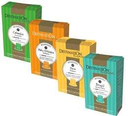 Pack découverte Pure Originie Destination - 40 capsules Biospresso compatibles Nespresso