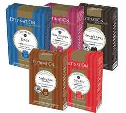 Pack découverte Destination - 50 capsules Bio compatibles Nespresso