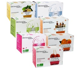 Organic Herbal Teas selection pack by Destination - 7 x 20 tea bags