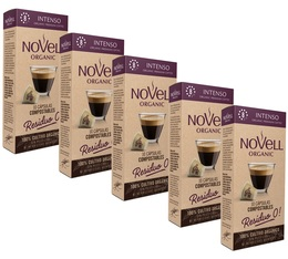Pack Capsules biodégradables Intenso Novell Organic 5 x10 compatibles Nespresso