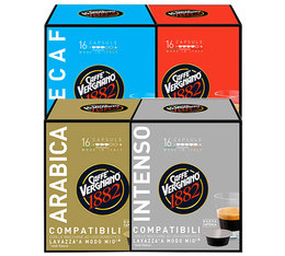 Caffè Vergnano a Modo Mio capsules Selection Pack x 64 coffee pods
