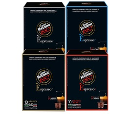 Caffè Vergnano Espresso selection pack - 40 coffee capsules for Caffe Vergnano machines