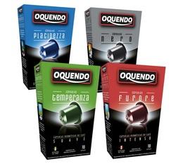 Pack découverte 40 capsules compatibles Nespresso Oquendo