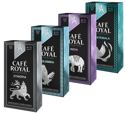 Selection pack - 40 Café Royal capsules (Pure Origin/Limited Edition) for Nespresso