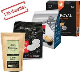 Pack Cafés Costauds (Exclusivité MaxiCoffee) : 126 dosettes souples Senseo®