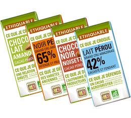 Pack de 4 Minis tablettes de chocolat 4x30g - Ethiquable