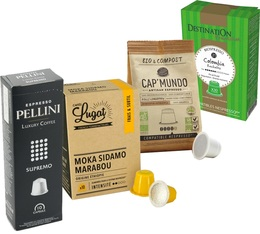 Pack of 40 coffee capsules with fruity notes