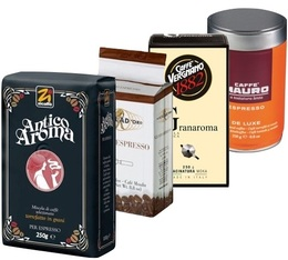Italian Arabica/Robusta pack (Exclusive to MaxiCoffee): 4 ground coffee x 250g