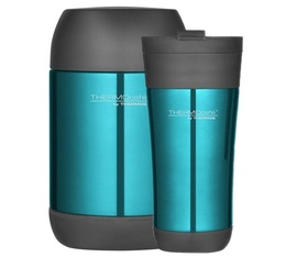 Lot Tumbler Mug 42.5cl + Lunch box 50cl Bleu Glacé - Thermocafé by Thermos