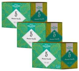Pack Thé vert ananas vanille en sachet- Maison Taillefer - 3 boîtes de 20 sachets