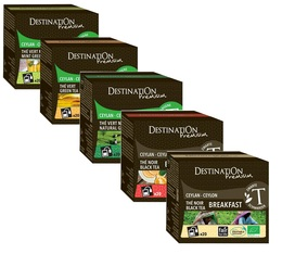 Destination organic tea selection pack - 5 boxes of 20 sachets.