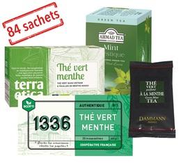 Pack Best Seller Thé vert Menthe x 84 sachets suremballés