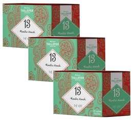 Pack Thé vert menthe en sachet- Maison Taillefer - 3 boîtes de 20 sachets